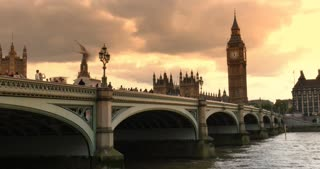 Big ben and Palace of Westminster Parliament by Thames river United Kingdom