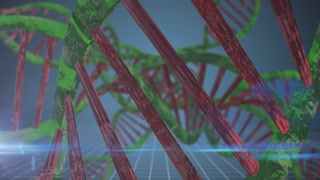 Biotech genetics and DNA double helix nucleic acids modification chemistry