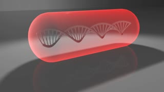 Biotechnology medical research DNA helix human genetics for health care