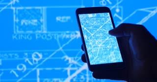 Blueprint design for technology engineer on mobile phone