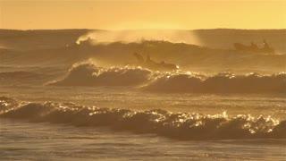 Bondi beach Sydney surf life saving lifeguard over waves