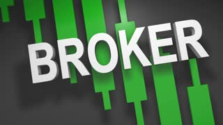 Broker title graphic 3D animation for stock market