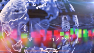 Business and finance online with safe encrypted data transfer over digital netwo