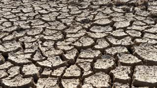 Climate Change Drought Disaster Cracked Mud