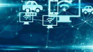 Connected devices Internet of things (IoT) cloud computing data network technolo