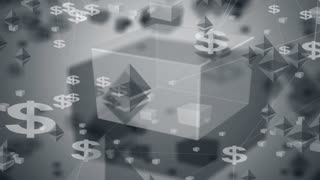 Cryptocurrency or crypto blockchain currency digital encryption network