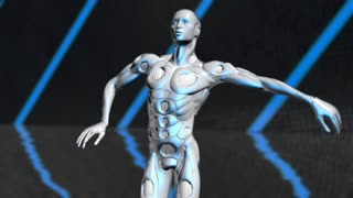 Dancing AI Artificial intelligence simulation of human intelligence by machines