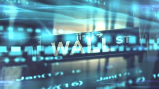 Dow Jones Nasdaq S&P500 U.S. Stock Market on Wall st motion graphic