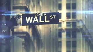 Financial investment in stocks and bonds wall street S&P500 motion graphic