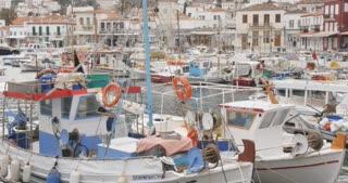 Fishing boats - Greek island of Hydra Saronic Islands in the Aegean Sea