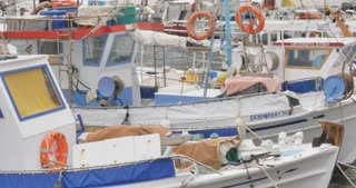 Fishing boats - Greek island of Hydra Saronic Islands in the Aegean Sea