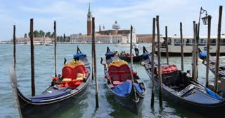 Gondolas at Venice Italy - of northern Italy's Veneto region
