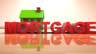House mortgage home loan for real estate housing property 3D title