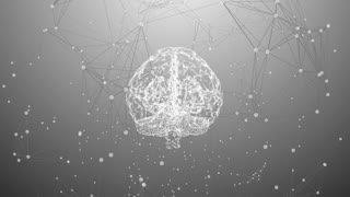 Human brain creativity innovation in thinking and knowledge abstract