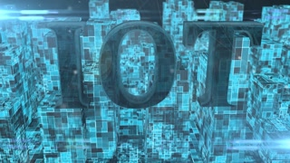 IOT Internet of things cloud computing smart city 5G network 3d render title