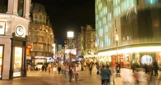 Leicester Square London time-lapse night