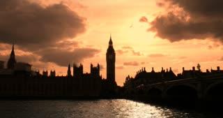 London Sunset big ben iconic landmark Palace of Westminster Parliament