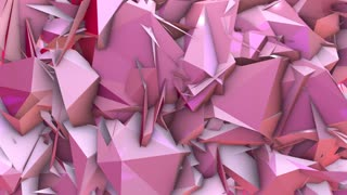 low-poly futuristic geometric 3d render background animation