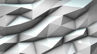 Low poly modern triangle 3d render abstract background animation