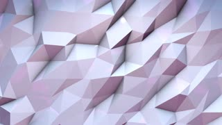 Motion animation background 3D render moving wall triangle pattern