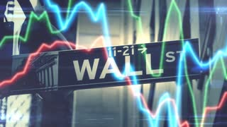 Motion graphic of Stock market volatility in the Dow Jones Nasdaq S&P500