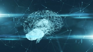 Neural network growth in AI artificial intelligence virtual mind simulation