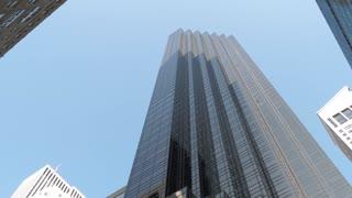 NEW YORK CITY - CIRCA 2018: Trump Tower New York City skyscraper building pan