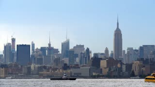 New York city day skyline of Manhattan cityscape from river