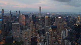 New York city skyline of Manhattan skyscraper buildings