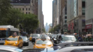 New York city traffic and commuter congestion slow motion