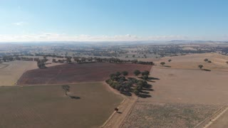 Outback aerial farmland dry agriculture rural country Australia