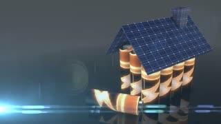 Photovoltaic battery solar panel green renewable energy storage future 3d render