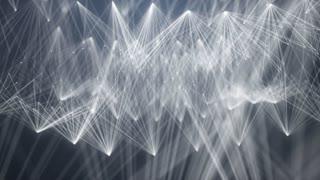 Poly tech fibre optic design abstract background
