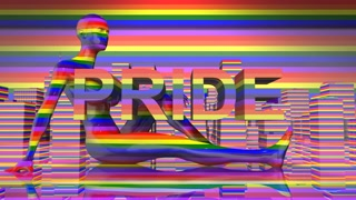 Pride Day LGBTQIA Gay Pride LGBT Mardi Gras graphic title 3D render