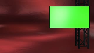 Red virtual set studio backdrop talk show stage 3d render