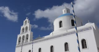 Santorini Greece - Oia blue churches and bells of the Greek Islands Cyclades