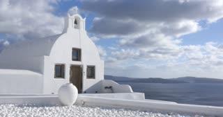 Santorini Greece - Oia white-painted houses of the Greek Islands Cyclades