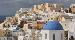 Santorini Greece - The beautifl town Oia in the Greek Islands Cyclades
