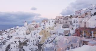 Santorini Greece time lapse, Oia in Greek Islands of Aegean