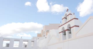 Santorini Greece time lapse, village of Oia in Greek Islands Aegean