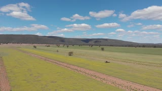 Spectacular Australia Aerial footage agriculture crop harvesting farming