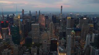 Spectacular New York city skyscraper skyline timelapse