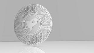 Stellar coin XLM blockchain cryptocurrency altcoin 3D Render