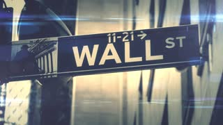 Stock market on wall street NYC global financial hub background