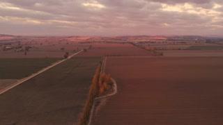 Sunset Country Australia rural countryside dry farmland aerial