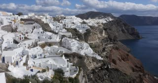 Time lapse Santorini Greece, village of Oia in Greek Islands Aegean