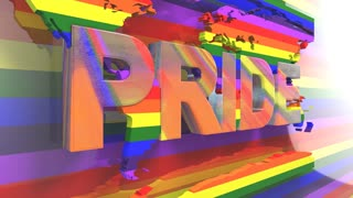 Title 3D render LGBT Gay Lesbian Pride Mardi Gras LGBTQIA