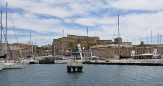 Vieux-Port fort, Marseille city southern France european tourism destination