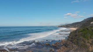 Waves breaking on rocks of Wombarra Wollongong - Illawarra
