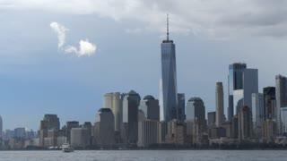 World Trade Center New York city cityscape skyline 9/11 Patriot Day background